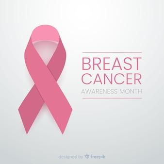 Design minimaliste pour la sensibilisation au cancer avec ruban