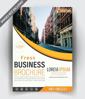 Design de modèle de brochure moderne avec couleur orange