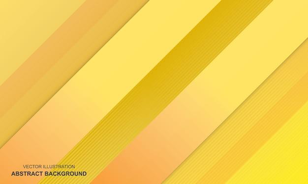 Design moderne de couleur jaune abstrait