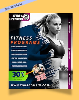 Design moderne de flyers de fitness