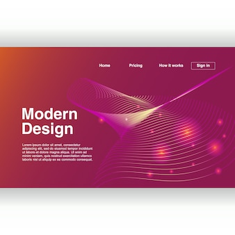 Design moderne géométrique abstrait pour page de destination