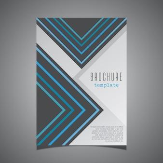 Design moderne pour une couverture de la brochure de l'entreprise