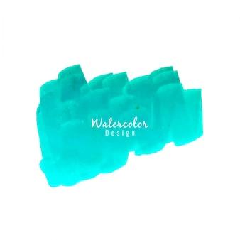Design moderne de la tache d'aquarelle bleue