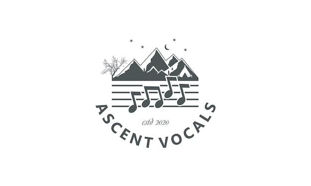 Design de montagne et notes vocales