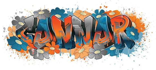 Design de nom de style graffiti - art graffiti lisible connor cool