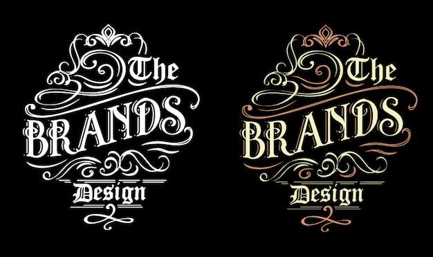 Design ornemental pour la marque de vêtement