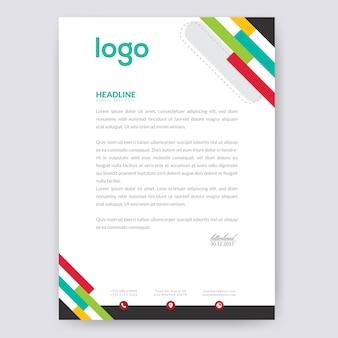 Design de papier à en-tête coloré