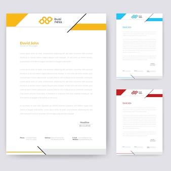 Design de papier à en-tête simple