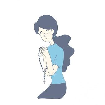 Design des personnages fille du vecteur