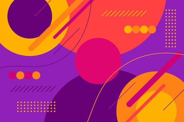 Design plat abstrait coloré