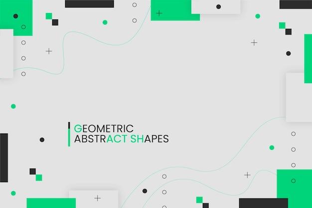 Design plat abstrait géométrique