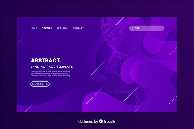 Design plat abstrait page d'atterrissage monochrome