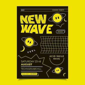 Design plat affiche acide emoji