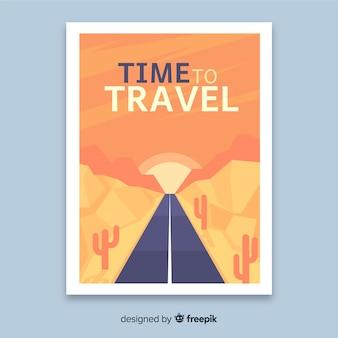 Design plat affiche de voyage vintage
