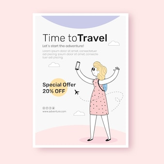 Design plat d'affiche de voyage
