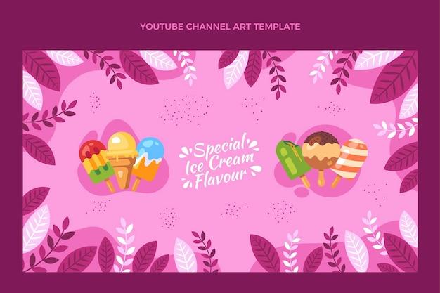 Design plat de l'art de la chaîne youtube alimentaire