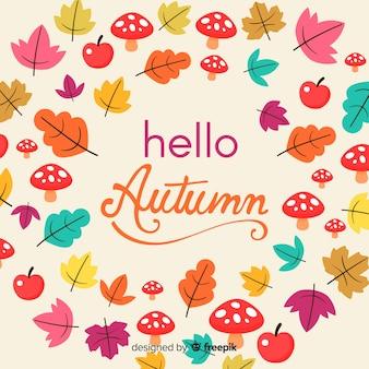 Design plat automne fond coloré