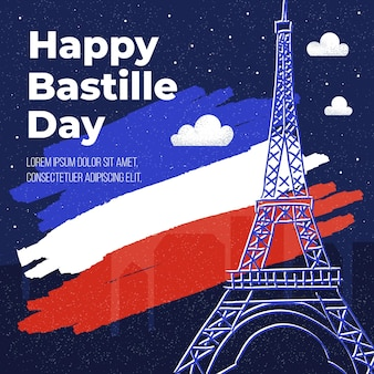 Design plat bastille day