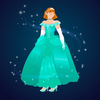 Design plat belle princesse cendrillon