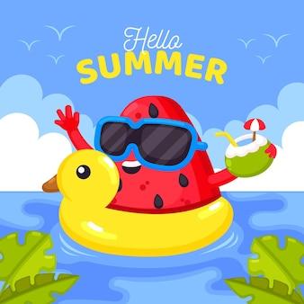 Design plat bonjour l'été