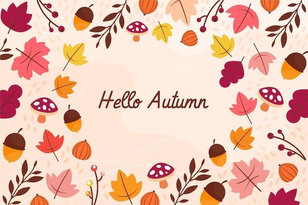 Design plat bonjour fond d'automne
