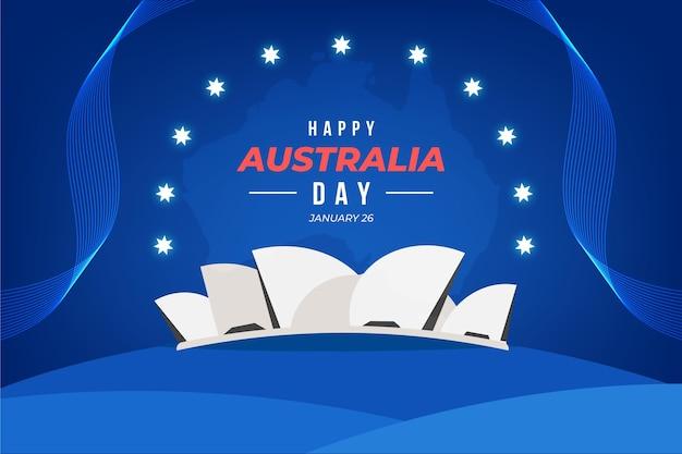 Design plat de bonne journée australie