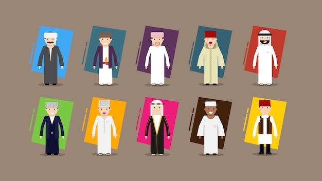 Design plat caractères arabes