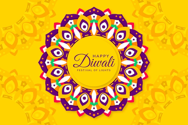 Design plat de célébration de diwali