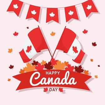 Design plat célébration de la fête du canada