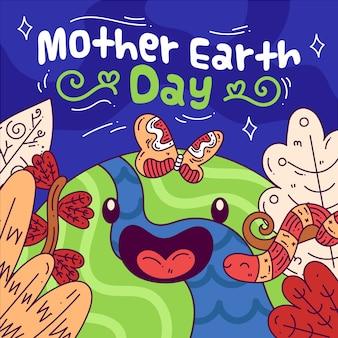 Design plat célébration de la fête des mères terre