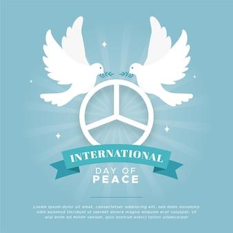 Design plat de célébration de la journée de la paix