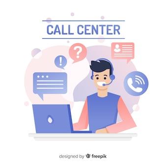 Design plat de centre d'appels