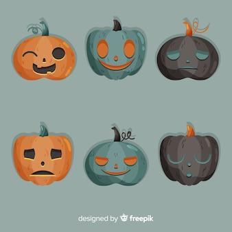 Design plat de citrouilles fantasmagoriques d'halloween