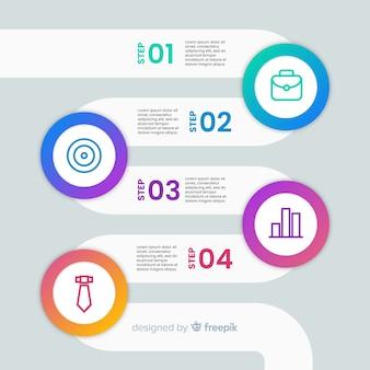 Design plat de collection d'infographies étapes