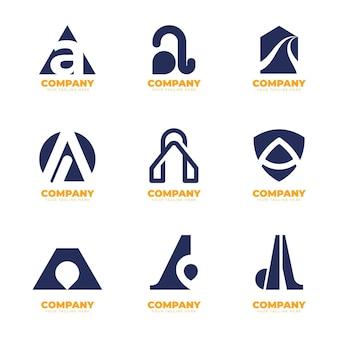 Design plat une collection de logos