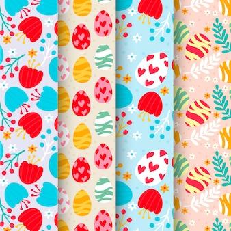 Design plat collection de motifs de pâques