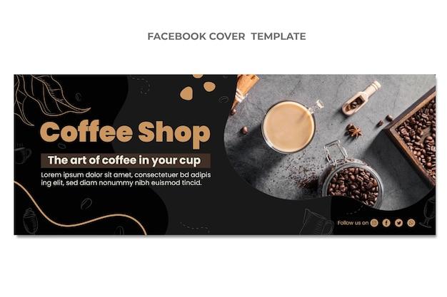 Design plat de la couverture facebook alimentaire