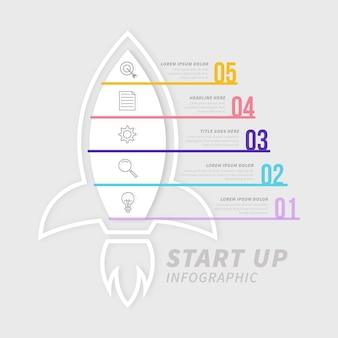Design plat de démarrage infographique