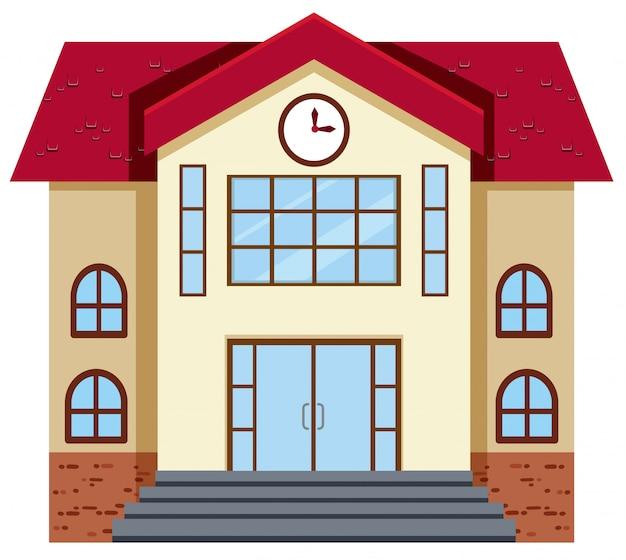 Design plat du bâtiment de l'école