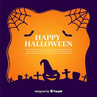 Design plat du cadre de cimetière d'halloween
