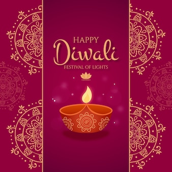 Design plat du festival de diwali