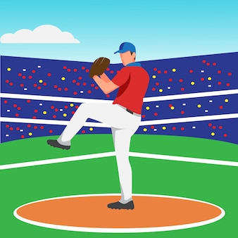 Design plat du lanceur de baseball