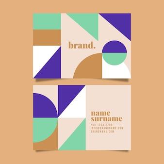 Design plat du modèle de cartes de visite de formes abstraites