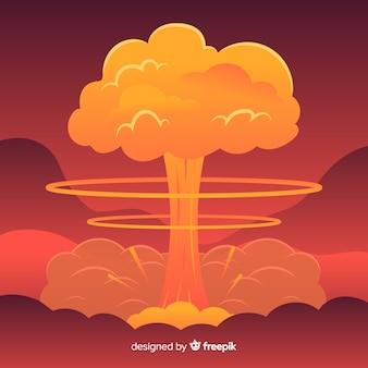 Design plat effet nucléaire d'explosion