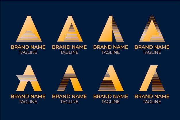 Design plat un ensemble de modèles de logo