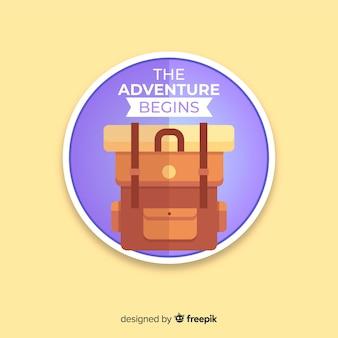 Design plat étiquette de voyage vintage