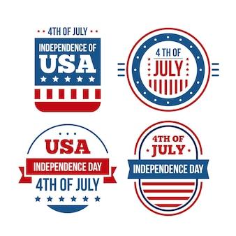 Design plat étiquettes du 4 juillet