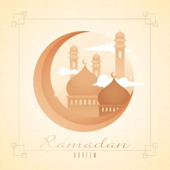 Design plat de l'événement du ramadan