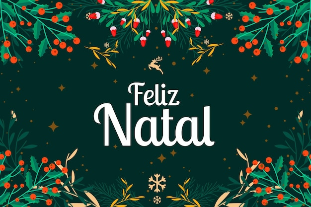 Design plat feliz natal