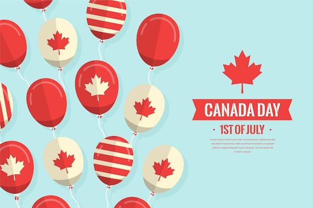 Design plat fond de ballons de la fête du canada